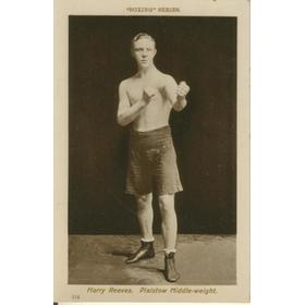 HARRY REEVES BOXING POSTCARD