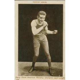 HARRY STONE BOXING POSTCARD