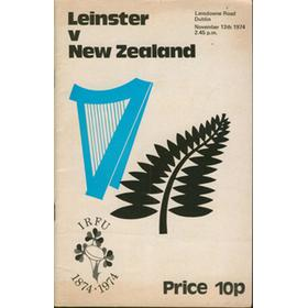 LEINSTER V NEW ZEALAND 1974 RUGBY PROGRAMME