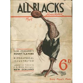 ALL BLACKS SOUVENIR BOOK 1935