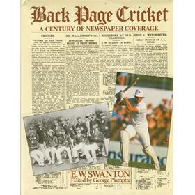 BACK PAGE CRICKET: A CENTURY OF NEWSPAPER COVERAGE