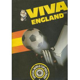 VIVA ENGLAND. OFFICIAL WORLD CUP BROCHURE 1982