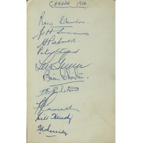 CANADA 1954 CRICKET AUTOGRAPHS