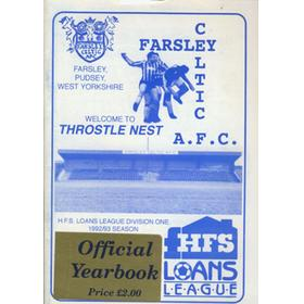 FARSLEY CELTIC A.F.C. HANDBOOK 1992/93