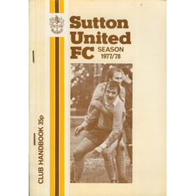 SUTTON UNITED CLUB HANDBOOK SEASON 1977/78