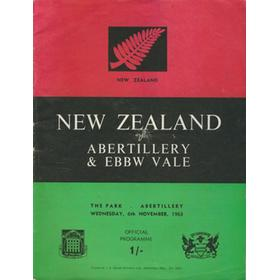 ABERTILLERY & EBBW VALE V NEW ZEALAND 1963/64 RUGBY PROGRAMME