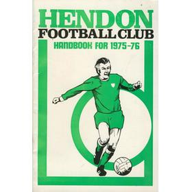 HENDON FOOTBALL CLUB HANDBOOK 1975-76