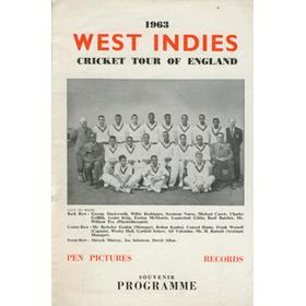 WEST INDIES CRICKET TOUR OF ENGLAND 1963
