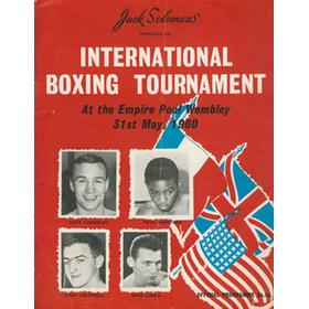 DAVE CHARNLEY V PAUL ARMSTEAD 1960 BOXING PROGRAMME