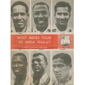 WEST INDIES TOUR OF INDIA 1966-67