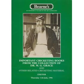 IMPORTANT CRICKETING BOOKS FROM THE COLLECTION OF DR. W.G. GRACE AUCTION CATALOGUE