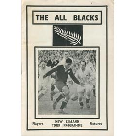 THE ALL BLACKS (1967) TOUR PROGRAMME