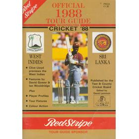 OFFICIAL 1988 TOUR GUIDE. ENGLAND V WEST INDIES & SRI LANKA