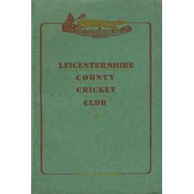 LEICESTERSHIRE COUNTY CRICKET CLUB 1952 ANNUAL
