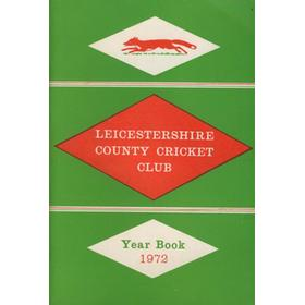 LEICESTERSHIRE COUNTY CRICKET CLUB 1972 YEARBOOK