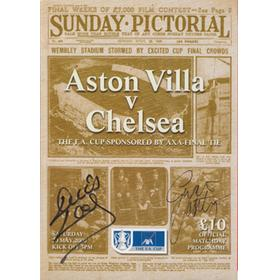 ASTON VILLA V CHELSEA 2000 (F.A. CUP FINAL) SIGNED BY DENNIS WISE AND GARETH SOUTHGATE