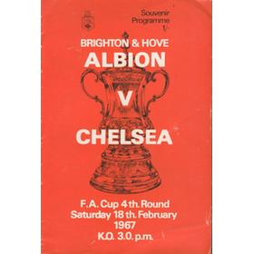 BRIGHTON V CHELSEA 1967 (F.A. CUP 4TH ROUND) FOOTBALL PROGRAMME