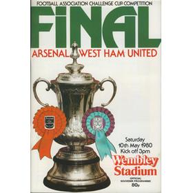 ARSENAL V WEST HAM UNITED 1980 (F.A. CUP FINAL) FOOTBALL PROGRAMME