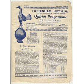 TOTTENHAM HOTSPUR V CHESTERFIELD 1949-50 FOOTBALL PROGRAMME