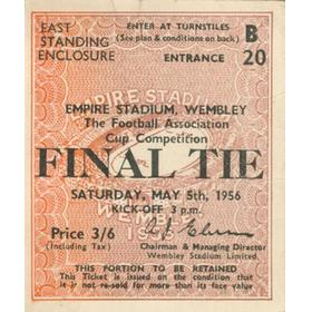 BIRMINGHAM CITY V MANCHESTER CITY 1956 (F.A. CUP FINAL) TICKET