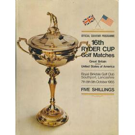 RYDER CUP 1965 (ROYAL BIRKDALE) OFFICIAL PROGRAMME