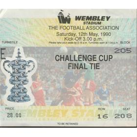 CRYSTAL PALACE V MANCHESTER UNITED 1990 (F.A. CUP FINAL) FOOTBALL TICKET