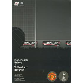 MANCHESTER UNITED V TOTTENHAM HOTSPUR 2009 (WEMBLEY) CARLING CUP FINAL