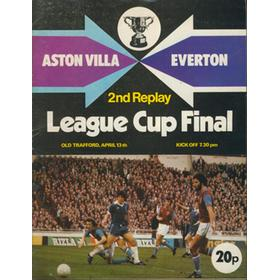 ASTON VILLA V EVERTON 1977 (LEAGUE CUP FINAL, 2ND REPLAY) FOOTBALL PROGRAMME