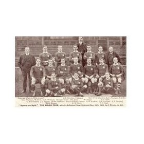 WALES V NEW ZEALAND 1905 RUGBY POSTCARD
