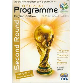 2006 FIFA WORLD CUP GERMANY 2ND ROUND OFFICIAL PROGRAMME (ENGLISH EDITION)