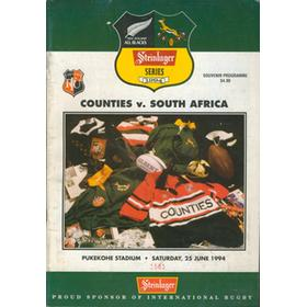 COUNTIES V SOUTH AFRICA 1994 RUGBY PROGRAMME
