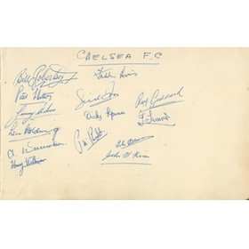 CHELSEA FOOTBALL CLUB 1947-48 AUTOGRAPHS