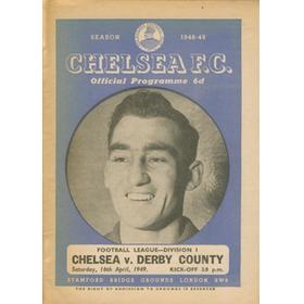 CHELSEA V DERBY COUNTY 1948-49 FOOTBALL PROGRAMME