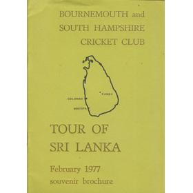 BOURNEMOUTH AND SOUTH HANTS CRICKET CLUB (TOUR OF SRI LANKA) 1977