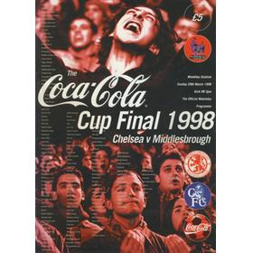 CHELSEA V MIDDLESBROUGH 1998 (COCA-COLA CUP FINAL) FOOTBALL PROGRAMME