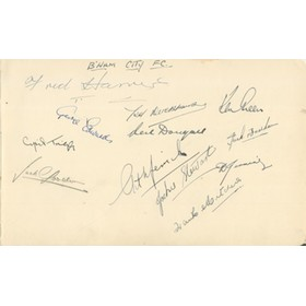 BIRMINGHAM CITY FOOTBALL CLUB AUTOGRAPHS 1947-48