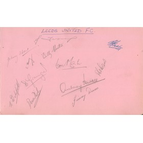 LEEDS UNITED AUTOGRAPHS (C.1947-48)