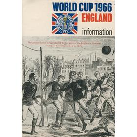 WORLD CUP 1966 (INFORMATION LEAFLET) FOOTBALL PROGRAMME