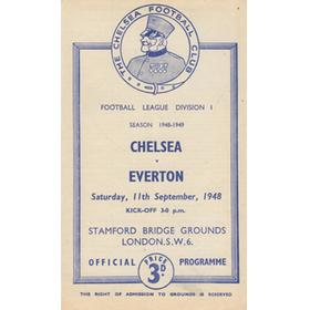 CHELSEA V EVERTON 1948-49 FOOTBALL PROGRAMME