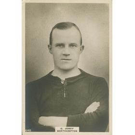 "GEORGE JOBEY (NEWCASTLE UNITED, ARSENAL AND NORTHAMPTON) LARGE ""PINNACE"" CARD"
