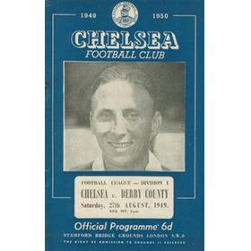 CHELSEA V DERBY COUNTY 1949 FOOTBALL PROGRAMME