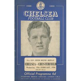 CHELSEA V CHESTERFIELD 1949-50 (FA CUP REPLAY) FOOTBALL PROGRAMME