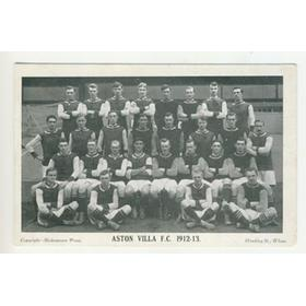 ASTON VILLA 1912-13 FOOTBALL POSTCARD