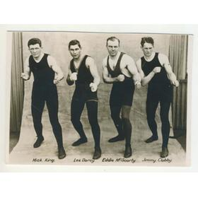 DARCY, KING, MCGOORTY AND CLABBY 1915 BOXING PHOTOGRAPH