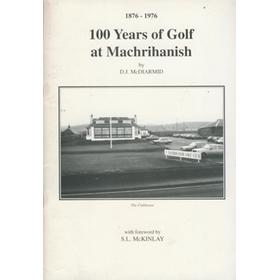 1876-1976. 100 YEARS OF GOLF AT MACHRIHANISH