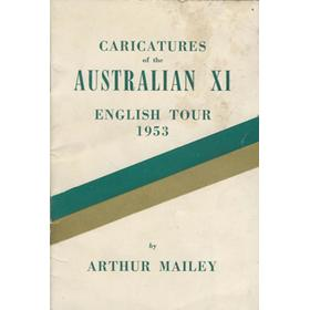 CARICATURES OF THE AUSTRALIAN XI: ENGLISH TOUR 1953