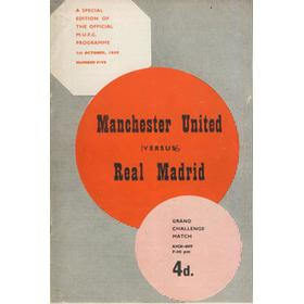 MANCHESTER UNITED V REAL MADRID 1959-60 FOOTBALL PROGRAMME (REAL WON 6-1)
