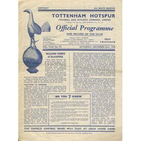TOTTENHAM HOTSPUR V ARSENAL 1950-51 FOOTBALL PROGRAMME
