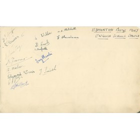 EDMONTON BOYS 1947 AUTOGRAPHS  - ENGLISH SCHOOLS SHIELD