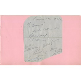 LIVERPOOL FOOTBALL CLUB AUTOGRAPHS 1946-47 (ALBUM PAGE)